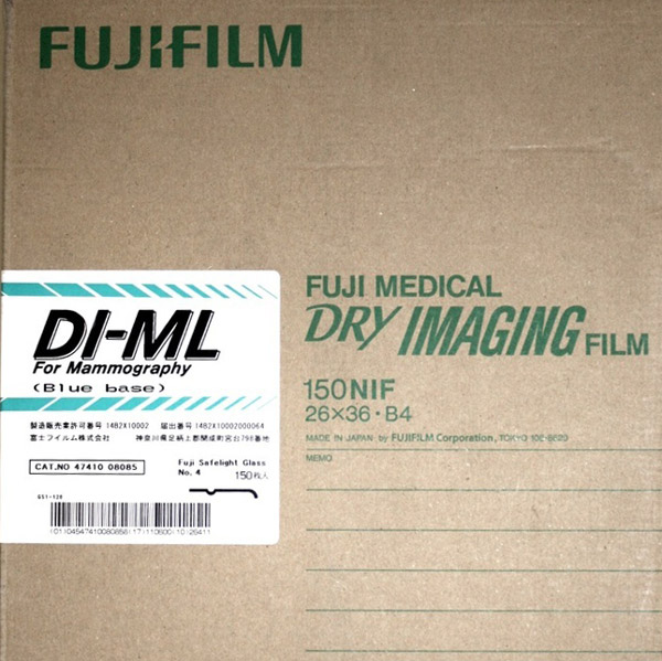 "Fuji DI-ML Blue Base Dry Imager Film 10""x12"" 