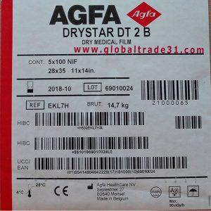 "Agfa Direct Thermal Blue Film (DT 2B) – Blue Base – 11""x14""   28 x 35 CM code EKMH5 EKL7H"