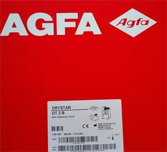 Agfa drystar medical X ray imaging films DT2B 25x30 cm 10x12 inch EKL7H code EKMEY